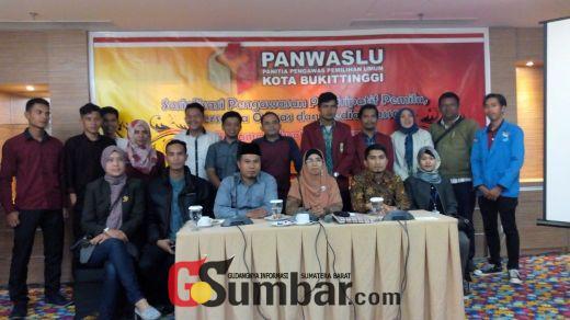 Sukseskan Pengawasan Pemilu, Panwaslu Bukittinggi Rangkul Media Massa dan Ormas