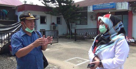 Anggota DPRD Sumbar Syahrul Furqan Tinjau Pembangunan Ruang Isolasi RSUD Sungai Dareh