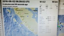 Sedang Istirahat Siang, Warga Pesisir Selatan Dikagetkan Gempa Susulan