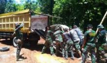 TMMD di Pesisir Selatan, Para Tentara Terus Berpacu Membangun Negeri