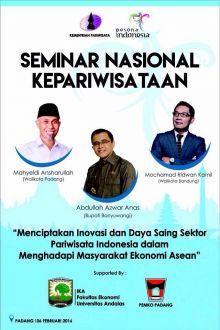 Mahyeldi, Ridwan Kamil dan Azwar Anas Akan Bicara Kepariwisataan Nasional di Padang