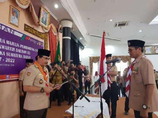 Adhyaksa Dault Lantik Gubernur Sumatera Barat Jadi Ketua Mabida Gerakan Pramuka