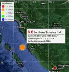 Tidak Ada Kerusakan di Kota Padang Akibat Gempa 6.5 SR