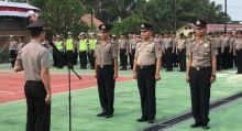Sejumlah Personil Polres Dharmasraya Naik Pangkat