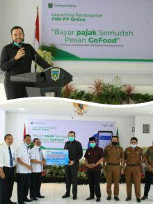 Perdana di Sumbar, Padang Panjang Launching PBB-PP Online, Bayar Pajak Semudah Pesan GoFood