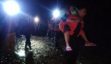 Sedang Rekreasi, 4 Remaja Terjebak di Air Terjun Lubuk Minturun