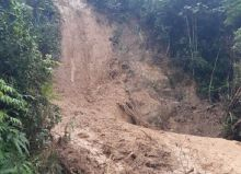 Pergerakan Tanah Ancam Pemukiman Warga Aur Mulyo Kota Sawahlunto
