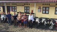 Tangkap Dua Tersangka Curanmor, Polres Pasbar Temukan 12 Sepeda Motor