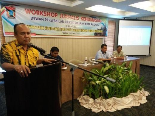 Wakil Ketua DPRD Padang, Wahyu Iramana Putra Ajak Wartawan Sinergi dalam Pembangunan