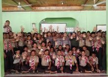 Cegah Pelanggaran UU ITE, Humas Polres Dharmasraya Beri Penyuluhan pada Pelajar