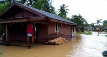 Banjir 1 Meter Rendam Puluhan Rumah di Tuapejat Mentawai