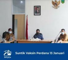 Persiapan Penyuntikan Perdana Vaksin Covid -19, Wawako Padang Panjang Ikuti Rakor