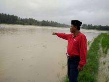 Inilah Foto-Foto Banjir Terjang Pangkalan, Sehingga Hubungan Sumbar-Riau Lumpuh