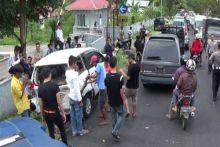 Delapan Mobil Tabrakan Beruntun di Bukittinggi