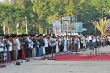 Ini Foto-Foto Kegiatan Presiden RI Joko Widodo di Sumbar yang Diakhiri dengan Shalat Idul Fitri di Masjid Raya Sumbar