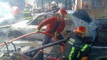 Bengkel Ludes Terbakar di Padang, 6 Mobil Ikut Hangus