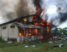Masak Kebutuhan Berbuka, Tapi Ketiduran, Rumah Warga di Gunung Medan Dharmasraya Hangus Terbakar