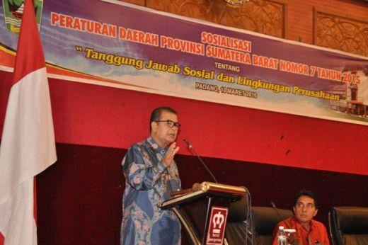 Wagub Nasrul Abit Ajak Perusahaan di Sumbar Lakukan Tanggung Jawab Sosial Lewat CSR