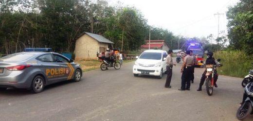 Polres Dharmasraya Tertibkan Balapan Liar Jelang Berbuka Puasa di Jalan Baru Pulau Punjung