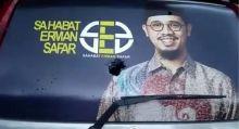 Prang! OTK Timpuk Mobil Sahabat Erman Safar
