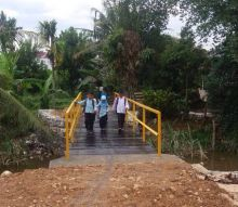 Warga Gembira, Jembatan Kurao–Dadok di Kota Padang Selesai Dibangun