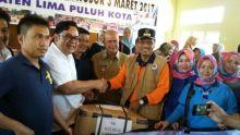 Wasekjen REI, Alkudri Pimpin Langsung Penyerahan Bantuan Korban Banjir Pangkalan