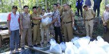 Wabup Dharmasraya Serahkan Bantuan 10 Ribu Benih Ikan Nila pada Pemuda Siguntur