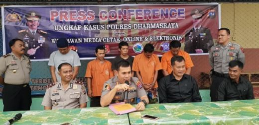 Gelar Operasi Sikat, Polres Dharmasraya Tangkap Sejumlah Pelaku Curanmor