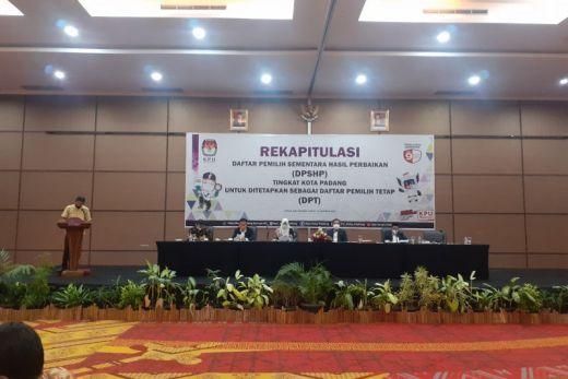 KPU Padang Tetapkan 613.513 Orang yang Berhak Memilih di Pilgub Sumbar