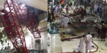 Saat Crane Jatuh Menimpa Masjidil Haram, Jamaah Sedang Khusyuk Salat di Tengah Hujan dan Badai
