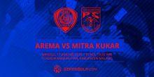 Babak I, Arema Cronus Vs Mitra Kukar Skor Sementara 2-1