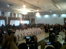 12 Kepala Daerah Terpilih Hasil Pilkada Sumbar 2015 Resmi Dilantik Gubernur Irwan Prayitno