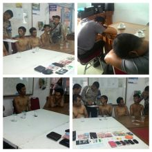 Asyik Konsumsi Shabu, 4 orang Warga dan 2 Oknum Anggota Polisi Ditangkap BNNK Sawahlunto