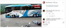 Bus Pariwisata Rem Blong di Sitinjau Lauik, Netizen : Kernek Serasa Syuting Film
