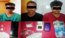 Dalam Semalam, Satres Narkoba Polres Dharmasraya Tangkap 3 Pengedar Sabu
