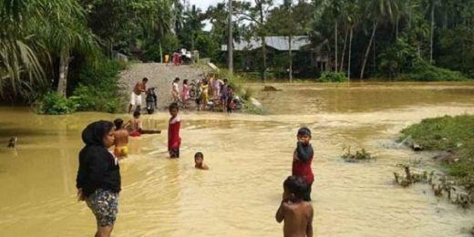 2 Kecamatan di Dharmasraya Terendam Banjir