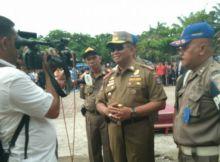 Tim Cendrawasih Amankan Fasilitas Umum dari PKL Bandel di Kota Padang
