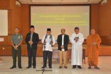 Jaga Kesatuan Bangsa, Korem 032/Wirabraja Doa Bersama Lintas Agama