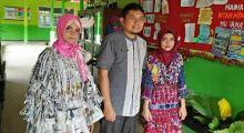 Dari Barang Bekas, Siswa-siswi SMPN 1 Pulau Punjung Hasil Kreasi Memukau