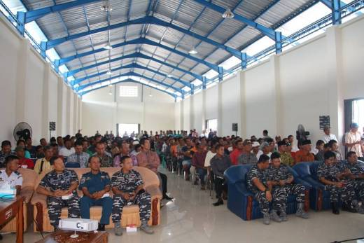 Lantamal II Padang Berikan Penyuluhan Keamanan dan Keselamatan di Luat Pada Nelayan Pesisir Selatan