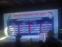 Ini Hasil Lengkap Drawing Final Round Turnamen Irman Gusman Cup 2016