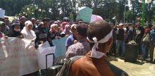 Minta Pemekaran Nagari Dipercepat, Ratusan Warga Jorong Tinggam Demo di DPRD Pasbar