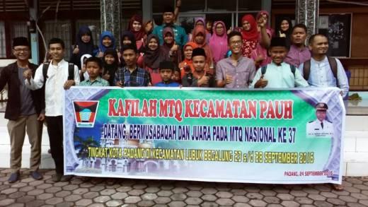 MTQ ke-37 Kota Padang Dimulai, Camat Pauh Janjikan Bonus, Koto Tangah Optimis Pertahankan Juara Umum