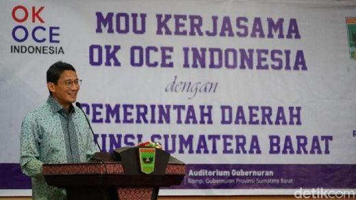 OK OCE Hadir di Ranah Minang, Sandiaga Uno Teken MoU dengan Gubernur Sumbar