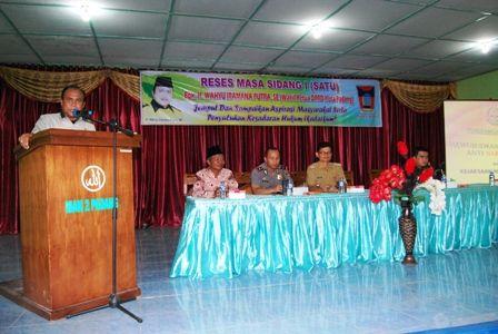 Wakil Ketua DPRD Padang, WIP: Perda Bantuan Hukum Belum Maksimal