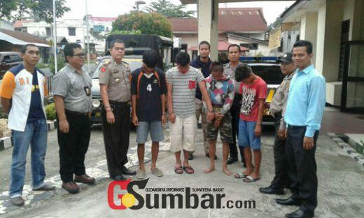 Polsek Kota Payakumbuh Tahan 4 Pelaku dalam Tiga Kejahatan Berbeda