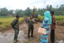Ditinjau Danrem 032/Wirabraja, Masyarakat Tanah Datar Antusias Sambut TNI Bakal Lakukan TMMD di Daerahnya