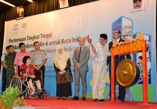 Pertemuan Tingkat Tinggi Walikota se-Indonesia, Walikota Padang Ajak Semua Lapisan Peduli Penyandang Disabilitas