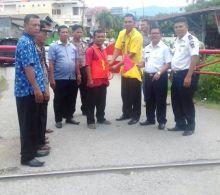 Antisipasi Kecelakaan Kereta Api, Dishubkominfo Bangun 13 Plang Perlintasan di Kota Padang