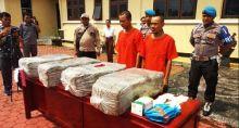 65,5 Kg Ganja Kering Dibakar di Depan Mapolres Padang Pariaman